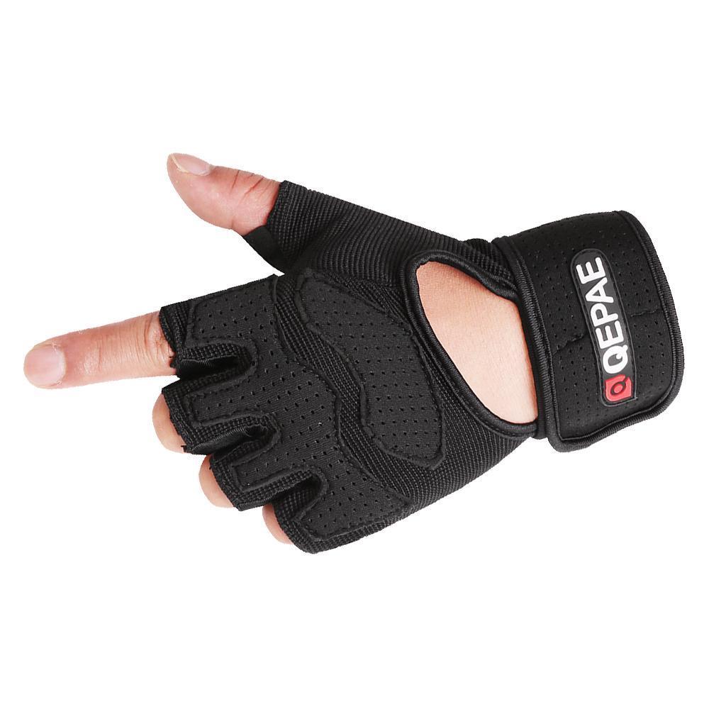 Gym Sweat Absorption Friction Resistance Gloves Sports Half Finger Gloves