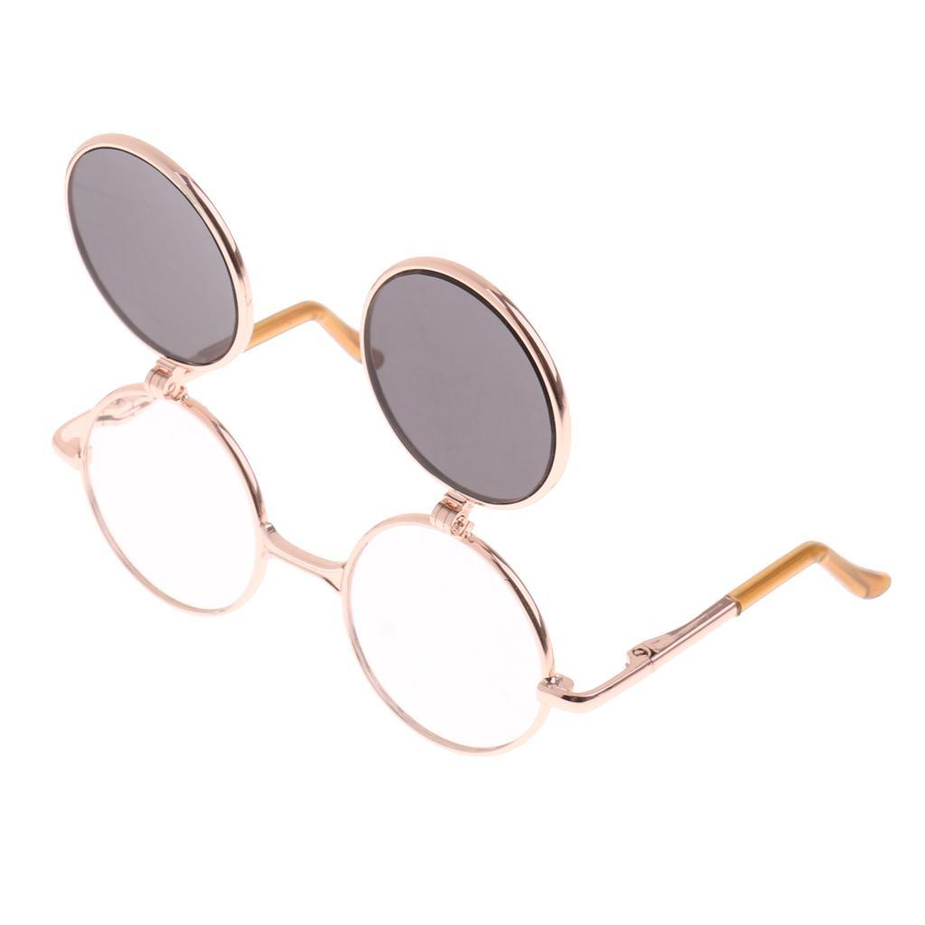 Fashion Alloy Double Fold Sunglasses Eye Glasses for Blythe Pullip Dolls Outfit