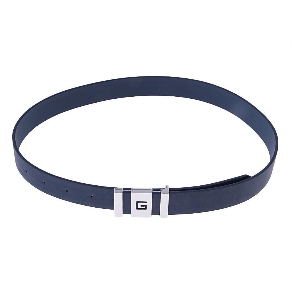 Hommes faux en cuir robe ceinture occasionnels boucle ceinture taille