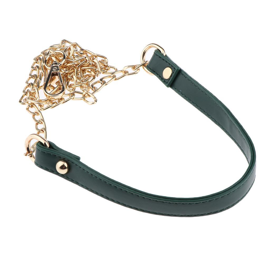 Leather Bag Chain PU Leather Strap Replacement for Purse Handbag Crossbody