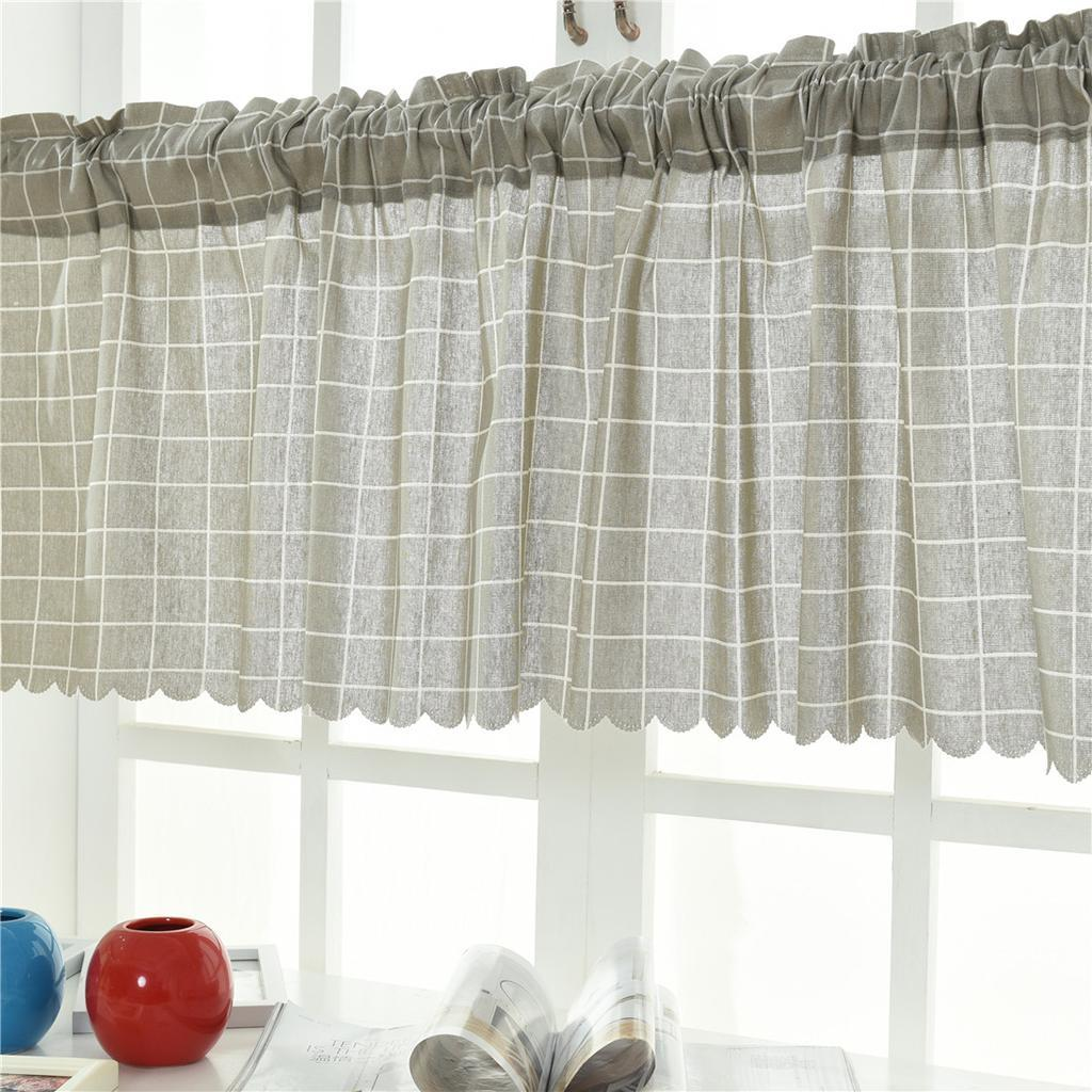 Blesiya Short Window Curtains for Home Kitchen Cafe Window Decorations Rod