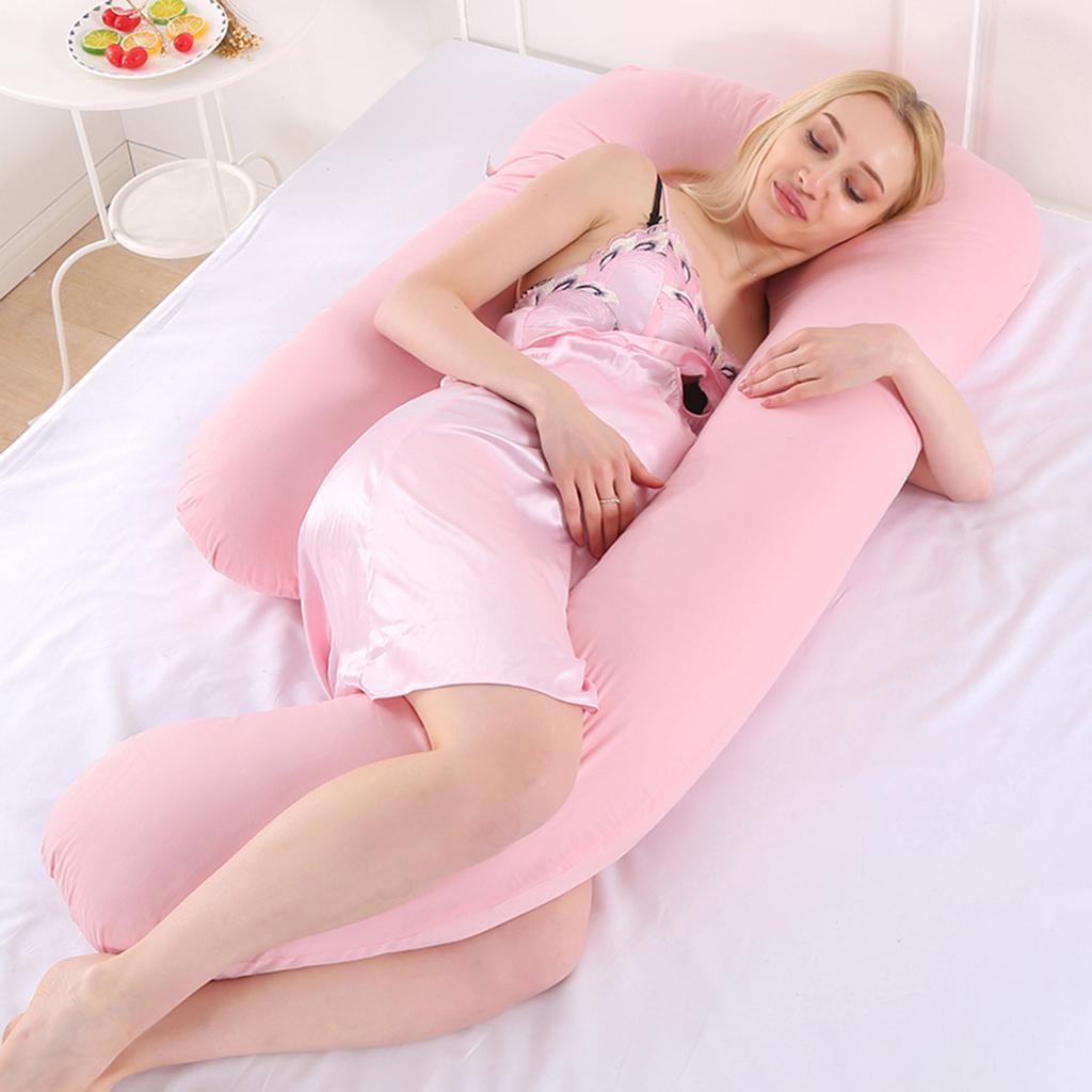 Case Maternity Pregnancy Nursing Bolster Full Body Support Luxury Body Pillow