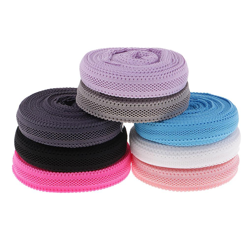 1 Roll 10 Yards 18mm Polyester Elastic Lace Trim for Clothing Headband Decor