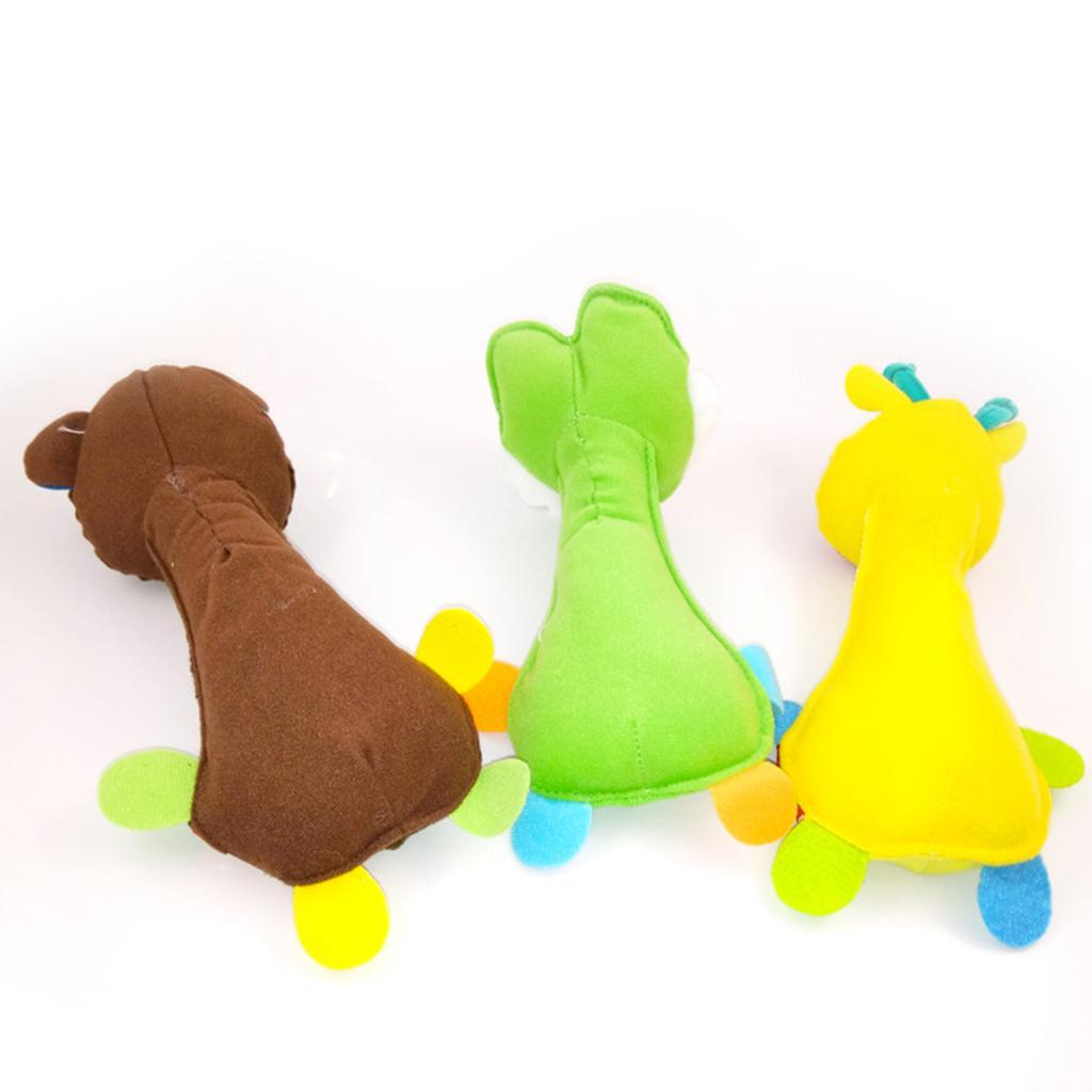 Colorful Soft Plush Hand Bell Rattle Animal Educational Toy Baby Gift