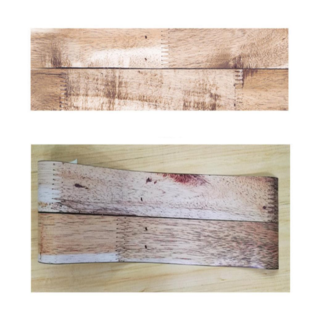 Removable Wooden Grain Self Adhesive Home Floor Stickers PVC Wall Sticker Murals