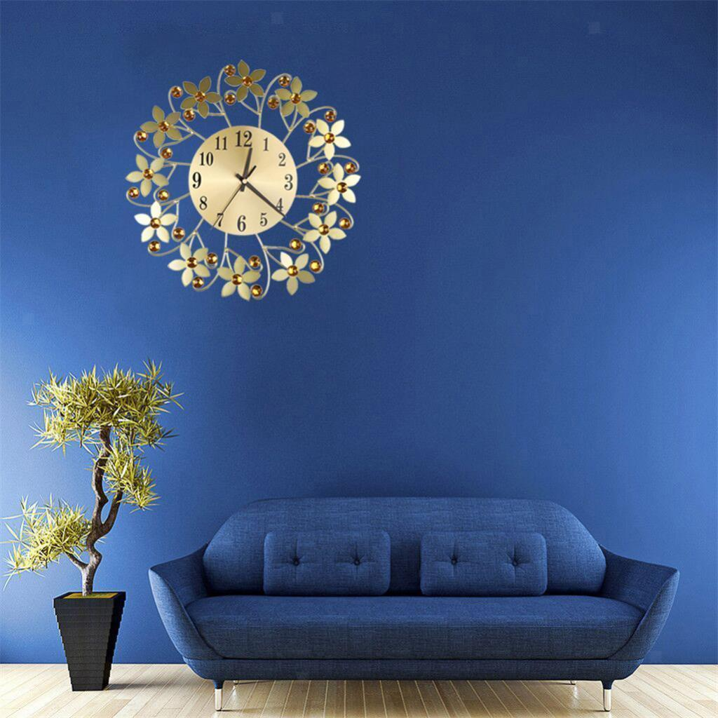 Unique Wall Clock Large Decorative Quiet Clocks Flower Design Wall Clocks Wall Clocks Clocks