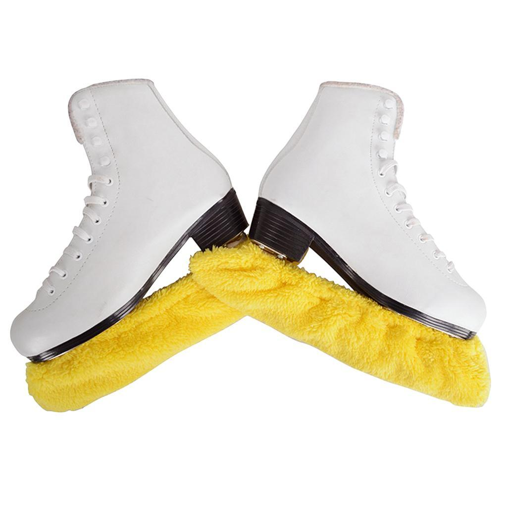 1 Pair Stretch Ice Hockey Figure Skating Skate Blade Covers Soakers Guards Sack