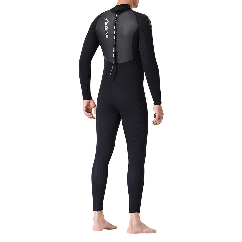 3mm Neoprene One-Piece Dive Suit Long Sleeve Snorkeling Wetsuit Fit for Men