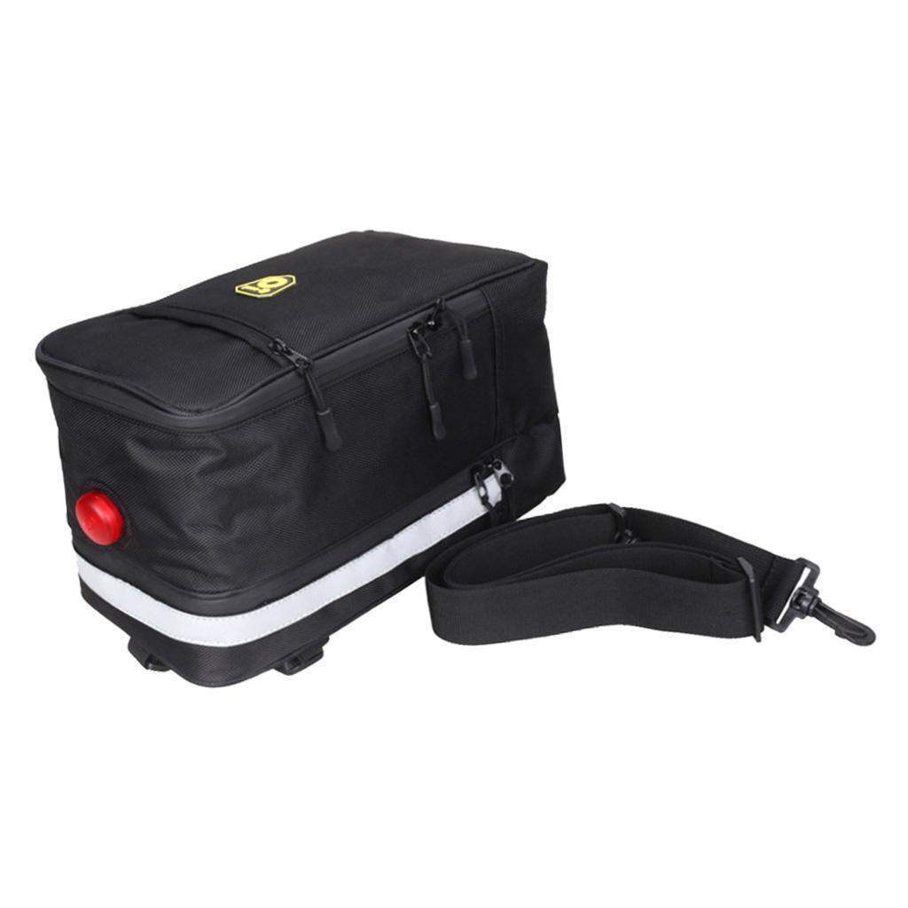 Bike Rear Carrier Bag Bicycle Rack Pack Luggage Bag Front Trunk Pannier Bag