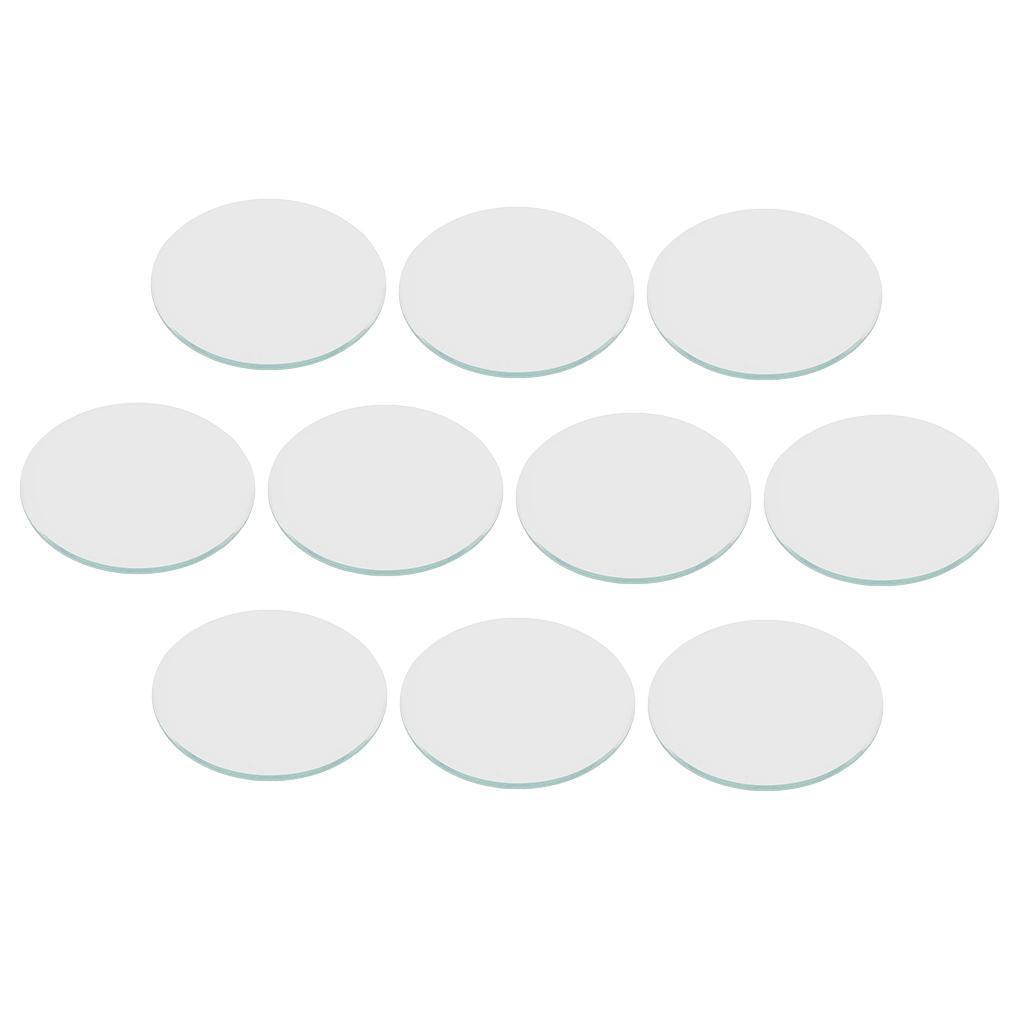 10 Stück flach 1mm dick transparent Mineralglas Uhr ersetzen Teil 40,5 45mm