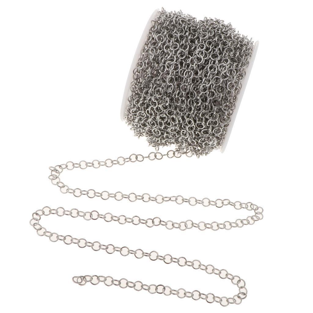 Edelstahl Kabel Kette Halskette für Männer Frauen DIY Schmuck Handwerk 12m