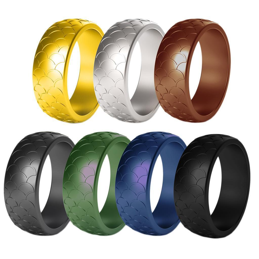 7 Colors Silicone Wedding Finger Rings Women Men Sports Rubber Ring Bands