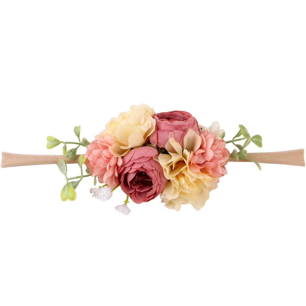 3pcs Kids Child Girl Newborn Flower Headband Set Crown for Party Dress Gifts