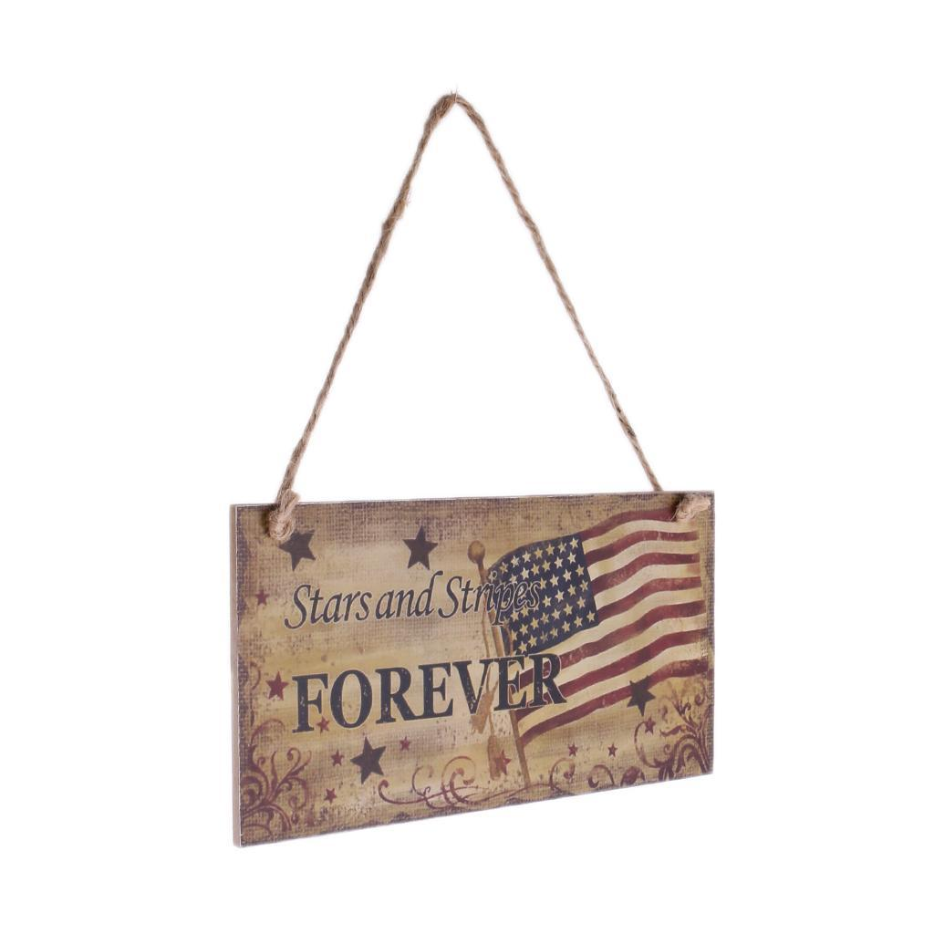 Rustic-Wooden-Hanging-Plaque-American-USA-Patriotic-Sign-Home-Wall-Decor thumbnail 12