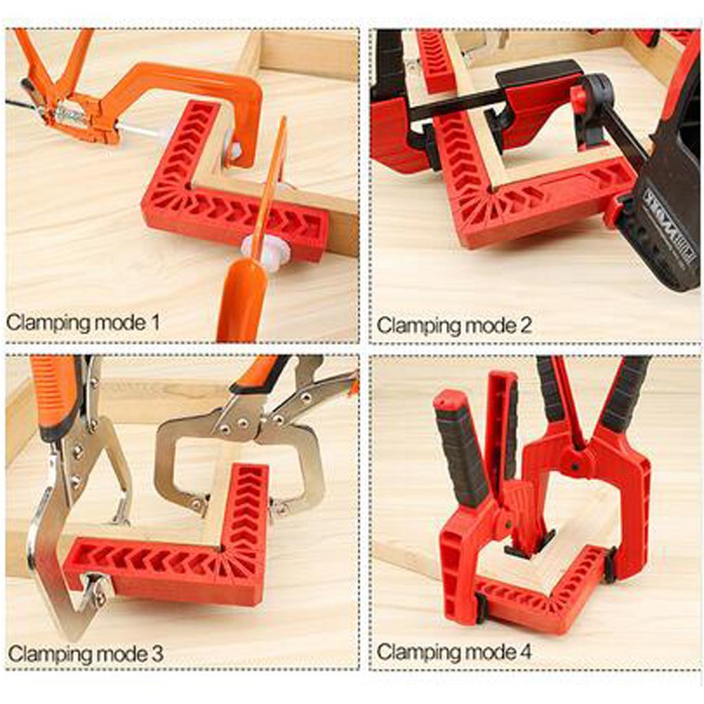 L Shape 90° Right Angle Positioning Square Corner Clamp Woodworking Tool