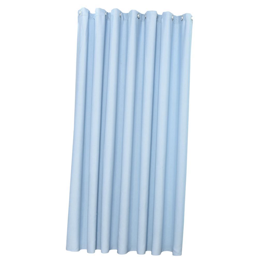 1Pcs Solid Color Eyelet Plain Curtains Blackout Door// Window Drapers 100x250cm