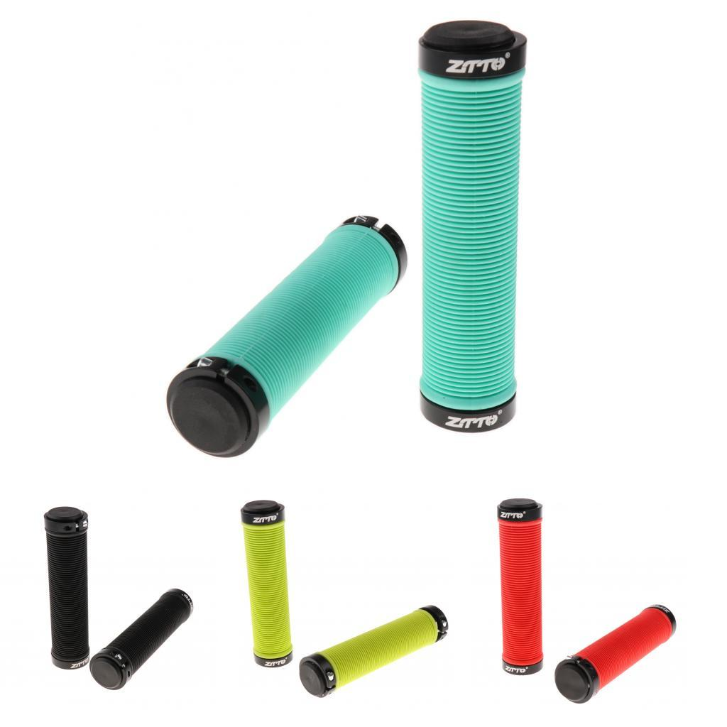 1 Pair Ergonomic Silicone MTB Mountain Bike Bicycle Handlebar Grips Covers