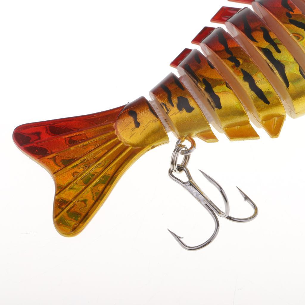 Details about  /Lifelike 3D Eyes Multi Sections Fishing Lure 7 Jointed Artificial Hard Baits