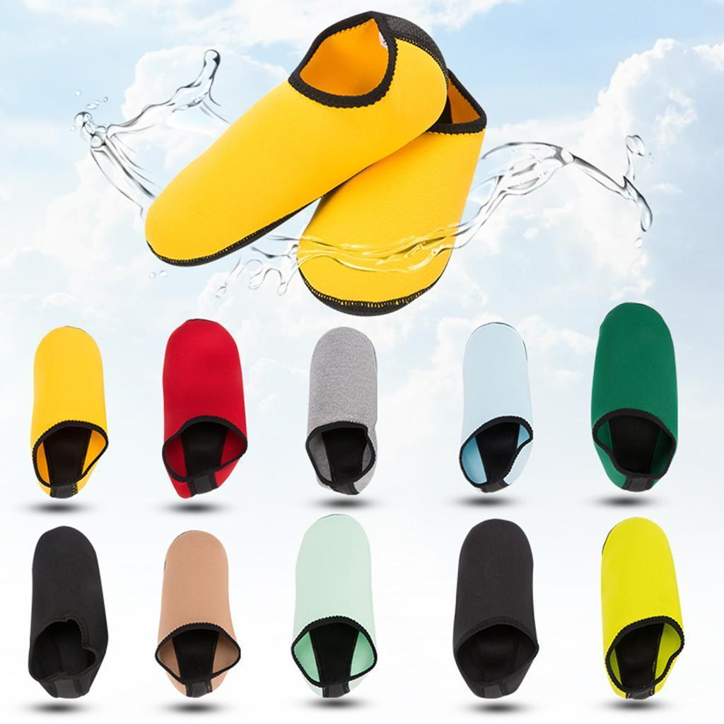 Details about  /Quick Drying Aqua Socks Barefoot Shoes for Adult Kid Diving Snorkeling Socks