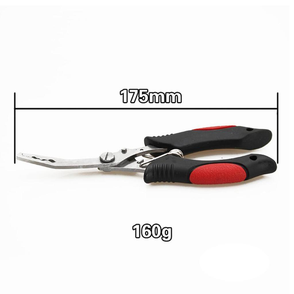 Fishing Pliers Hook Removal Line Cutting Braid Fish Grip Anti-Slip with Bag