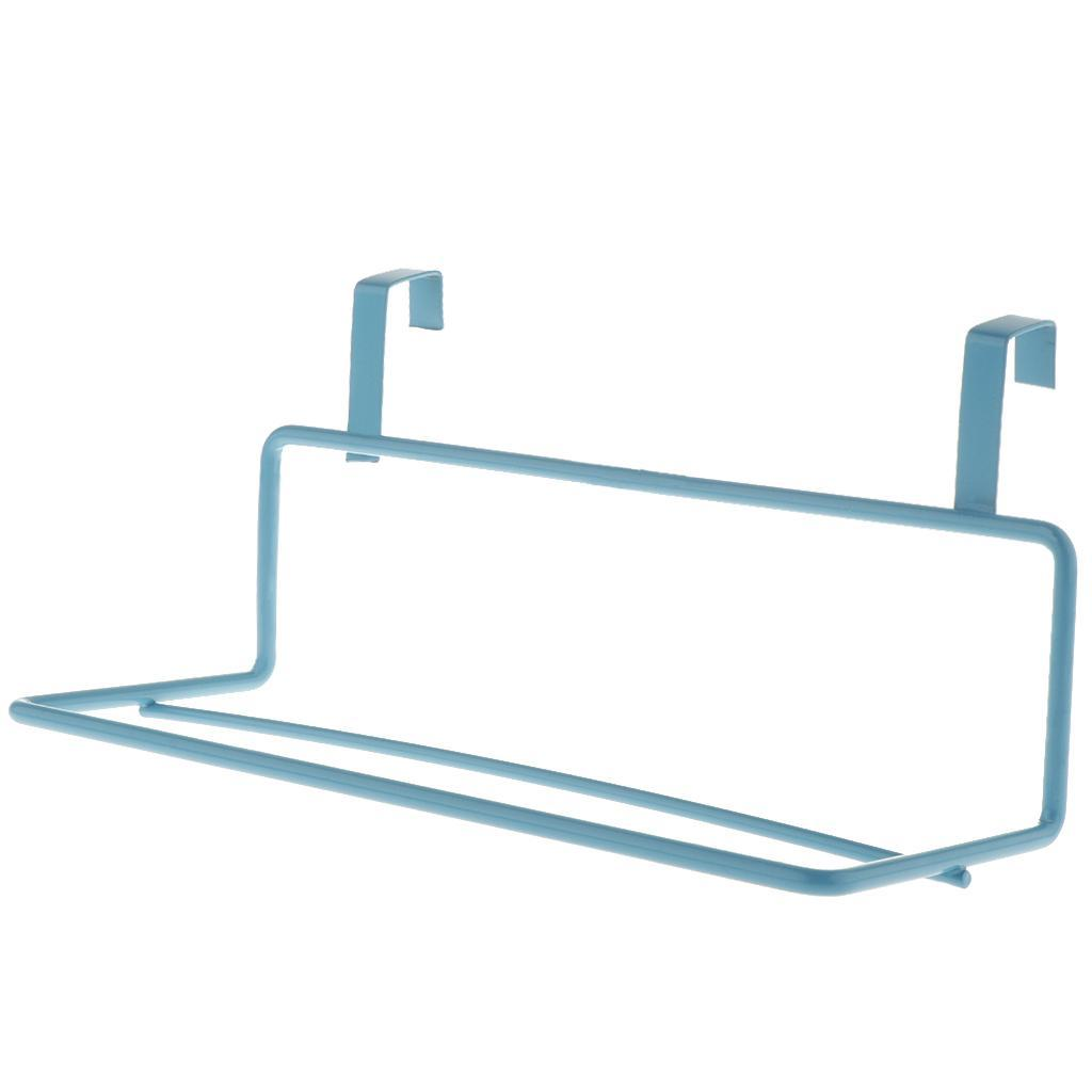 Towel Holder Double Bar Iron Bathroom Storage Rack Rail er Over the Door