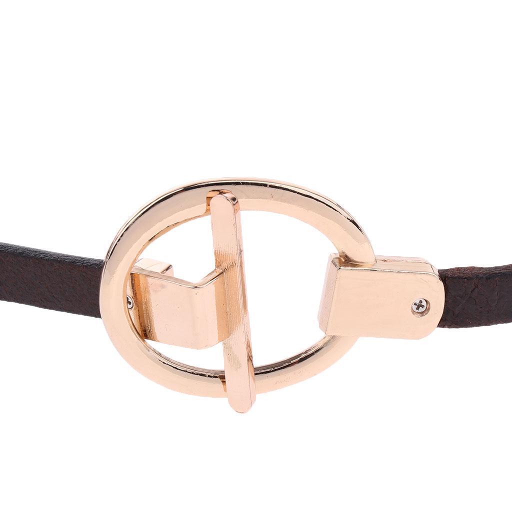 Damen PU-Leder Gürtel Taillengürtel mit Ring-Schnalle 100 cm