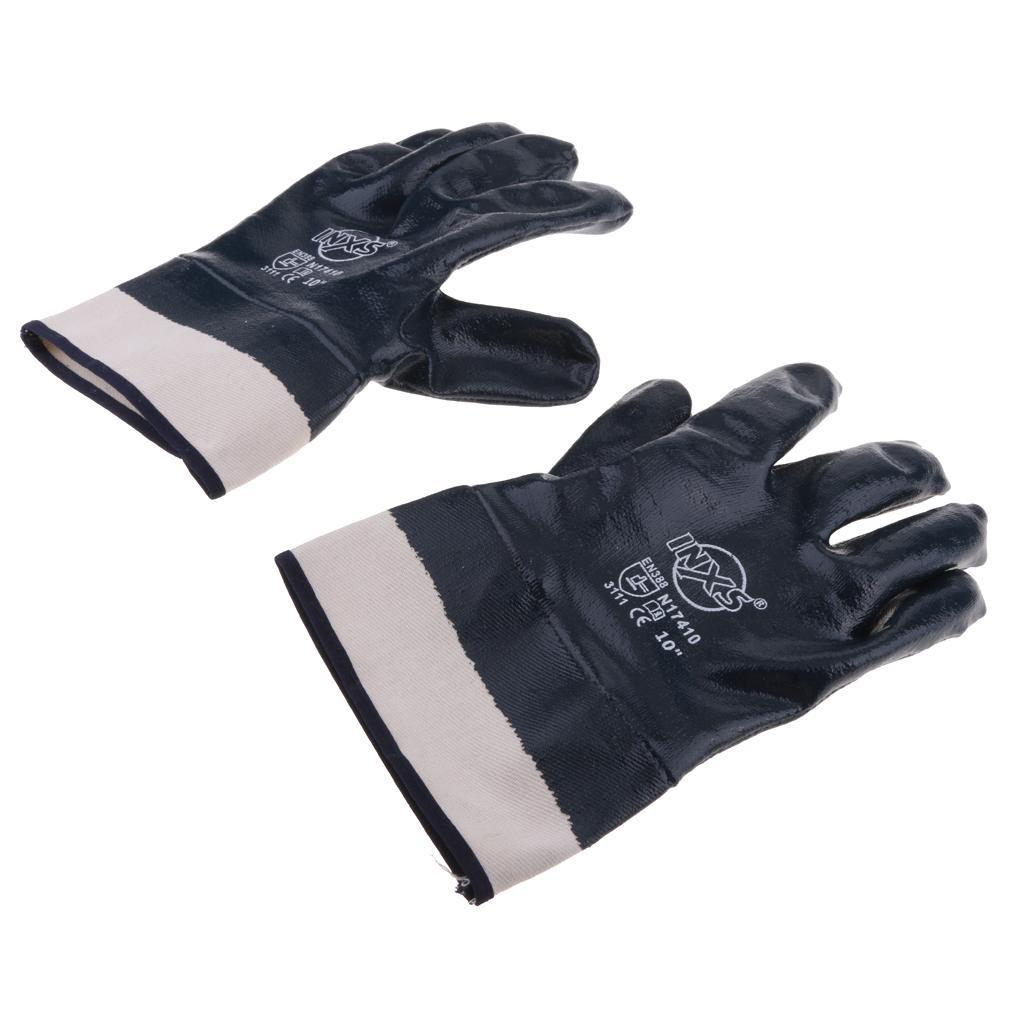 Non-Slip Nitrile Coating Waterproof Wearproof Oil Proof Work Gloves