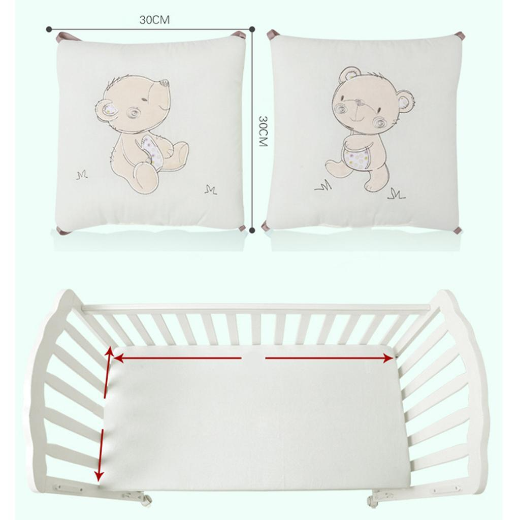 6PCs Baby  Breathable Comfy Cotton Infant Toddler Bed Cot Protector