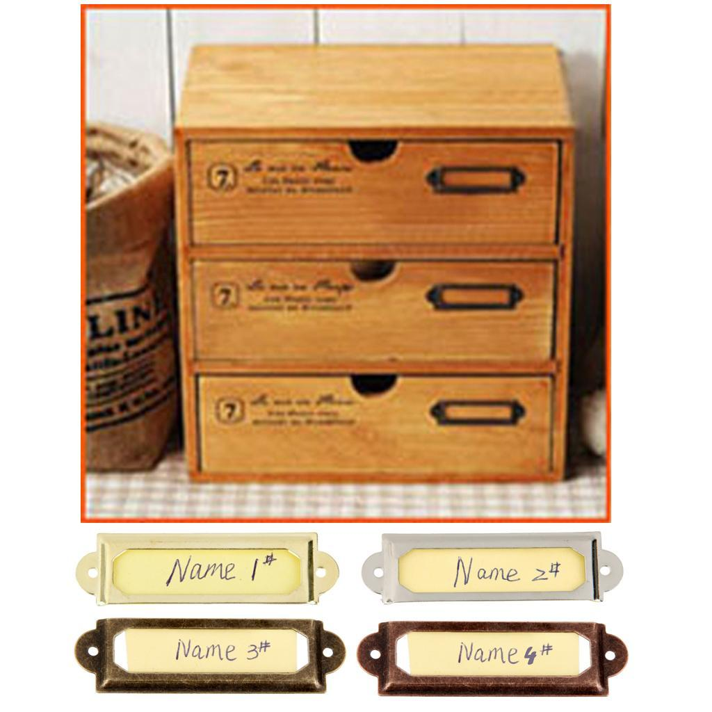 50 set Cadre du Nom étiquette Poignée pour Porte Tiroir Armoire cabinet
