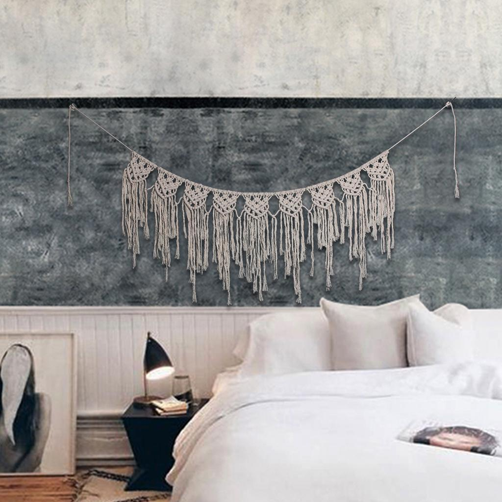 Decorative Boho Wall Art Woven Tapestry Home Decor for Living Room Bedroom