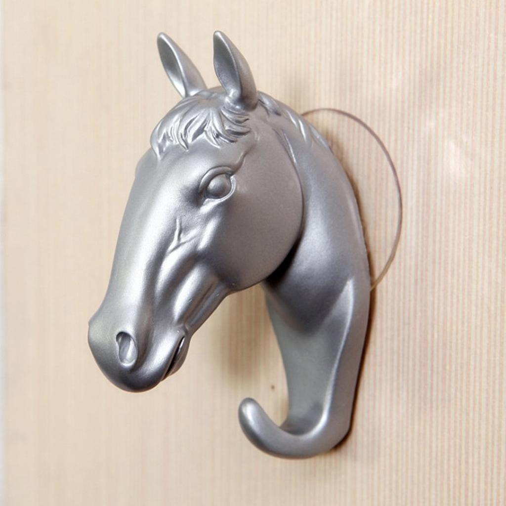 Dog Horse Animal Head Single Wall Hook Kid Room Coat Scarf Keys Holder 5kg
