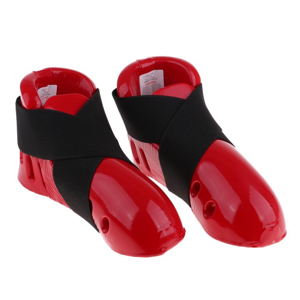 Karate Sparring Protective Gear Foam Shoe Foot Guard for Kids Taekwondo MMA