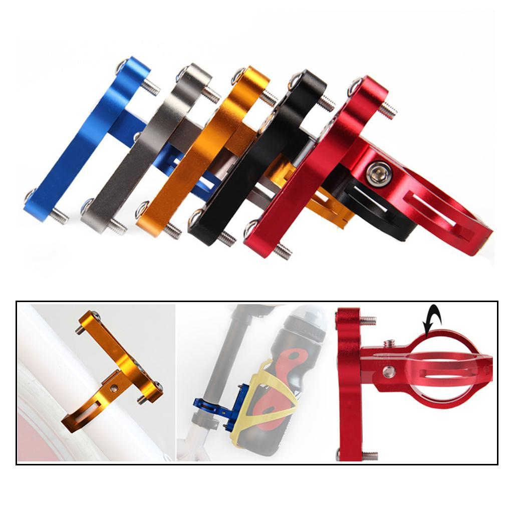 Cycling Bicycle Handlebar Water Bottle Cage Holder Adapter Mount Converter