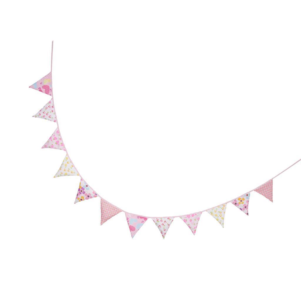 Süße Filz Flaggen Wimpel Girlande Wimpelkette Deko für Geburtstag Party