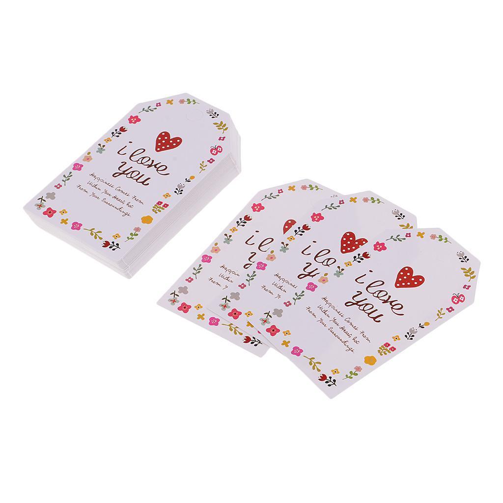 50 Stück Papier Hängen Tags Geschenkanhänger Papier Etiketten Hochzeit