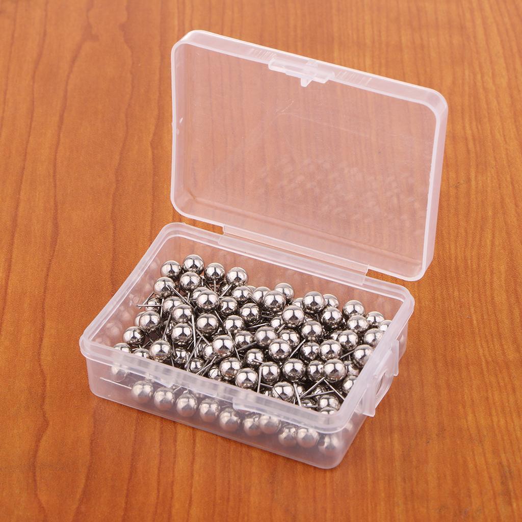 100//200 Push Pin drawing pin 6 mm Metal Ball Head Cork board carte bureau pouce