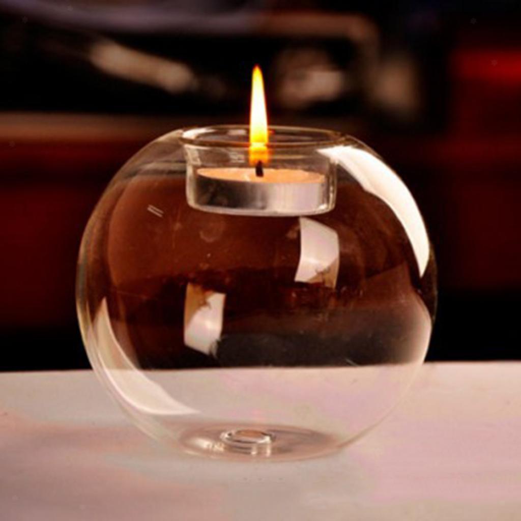 Thermische Glaskugel Teelichthalter Kerzenhalter Ständer für Urlaub