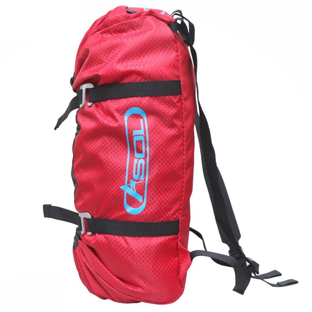 Rock Climbing Rope Backpack Caving Lanyard Cord Ground Sheet Carry Bag 28L
