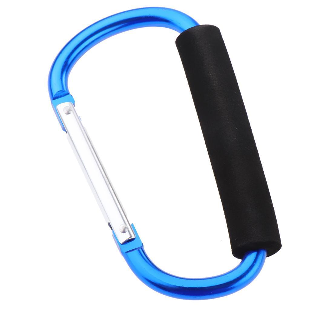 D Ring Carabiner Stroller Pram Pushchair Hook Shopping Grocery Bag Holder