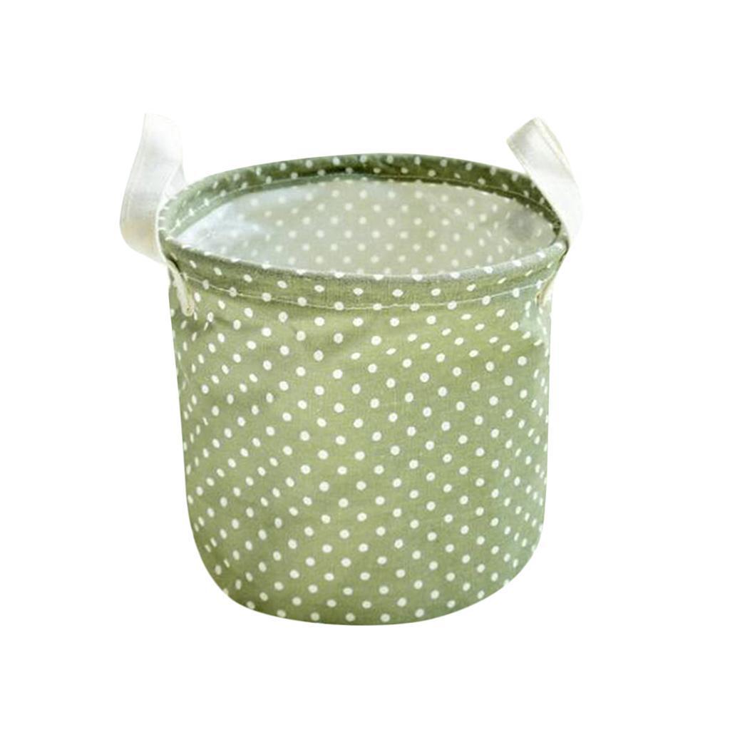 Kleine Leinenwäsche Wäschekorb Sorter Hamper Lagerung 4 Farben