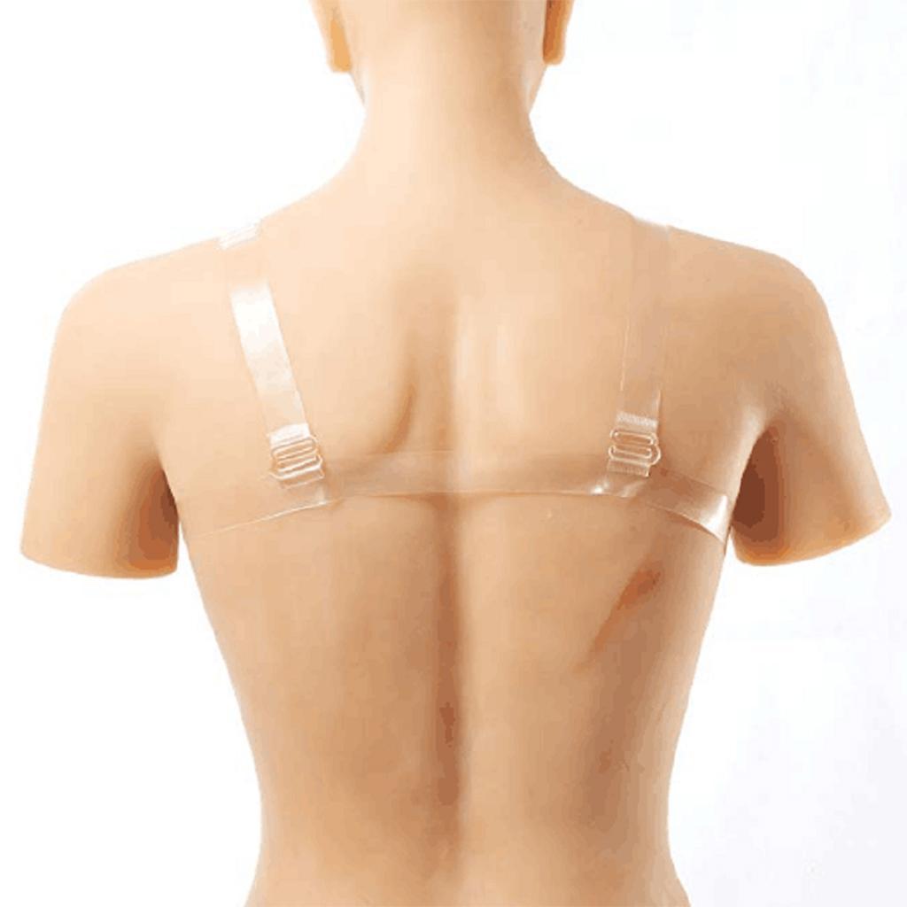 Silicone Seins Formes Faux Poitrine Prothèse Mammaires avec Sangles