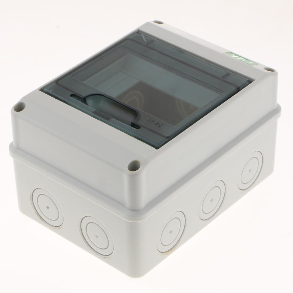 5//8 Ways Distribution Box Waterproof Outdoor Switch Box for Circuit