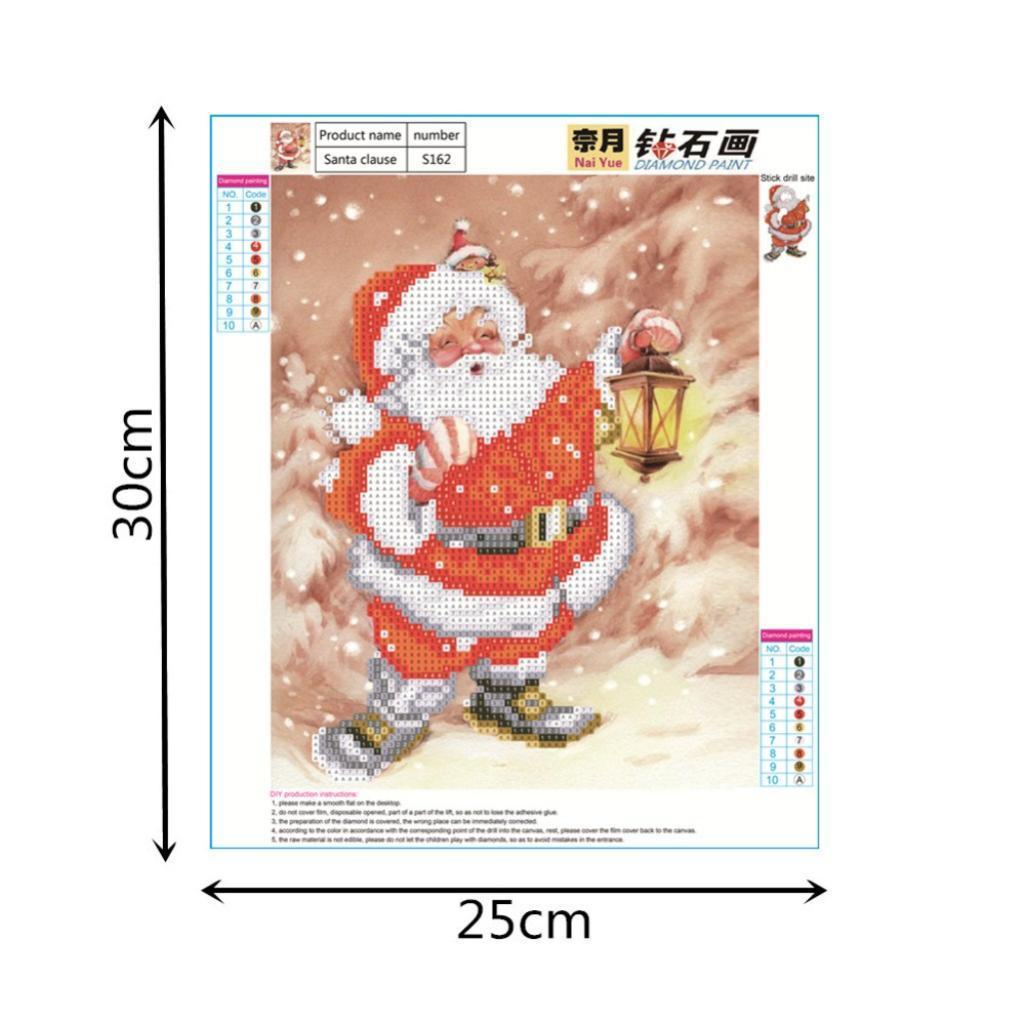 kit da ricamo a punto croce di Natale Babbo Natale diy 5d