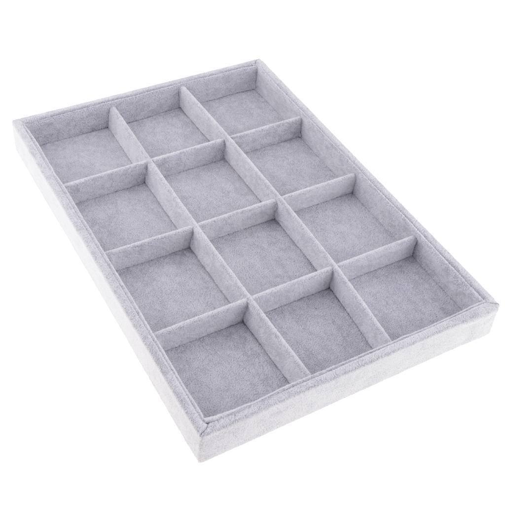 Schmucktablett Ablagekasten aus Samt Schmuckständer Vorlagebrett 12 Ratser