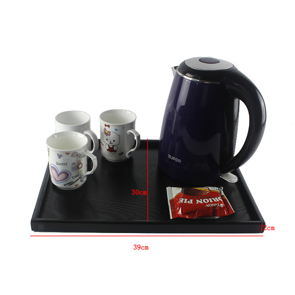 Holztablett Küchentablett Serviertablett Frühstückstablett für Tee Obst