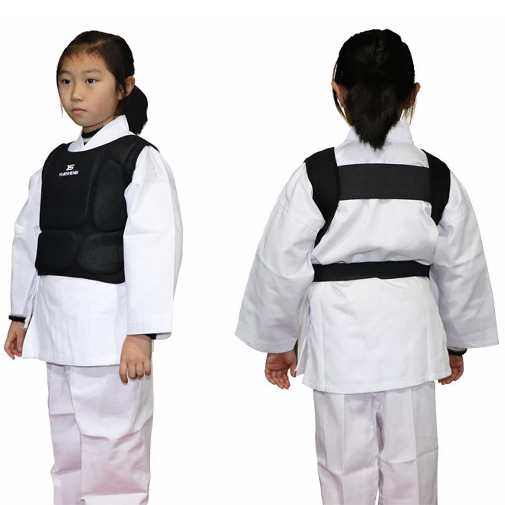 Boxing Training Chest Guard Protector MMA Taekwondo Karate Belly Body Pad