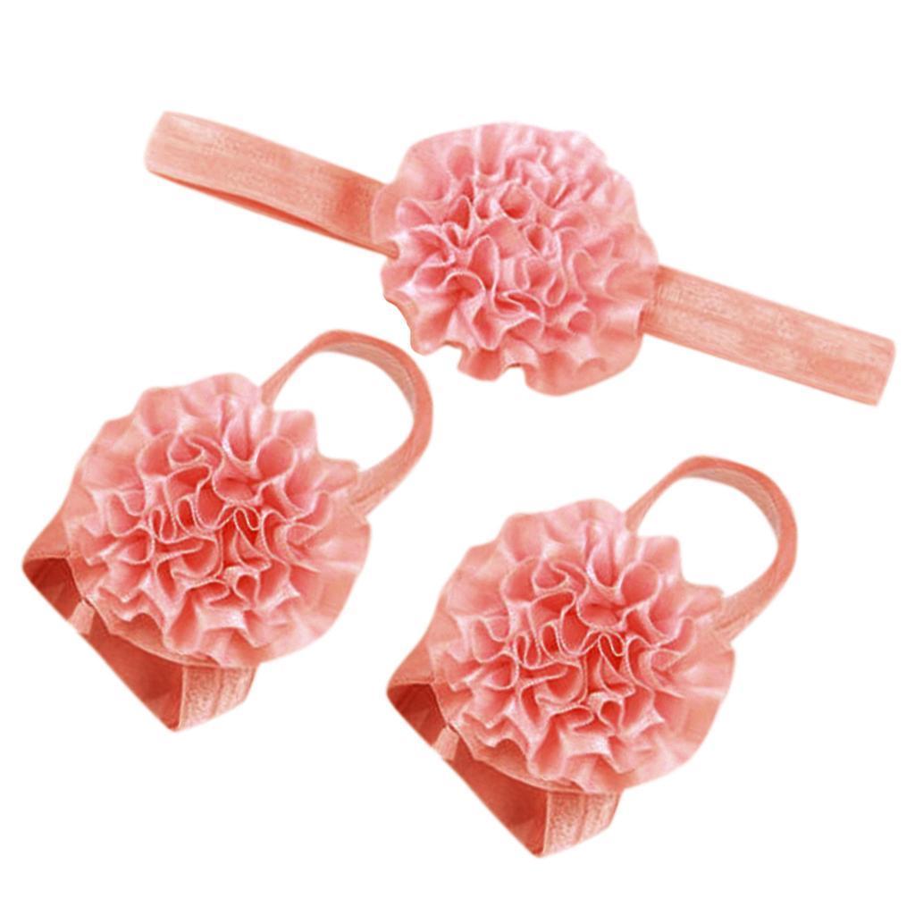 3pcs Chiffon Baby Girls Flower Headband Soft Elastic Hairband Hair Accessories