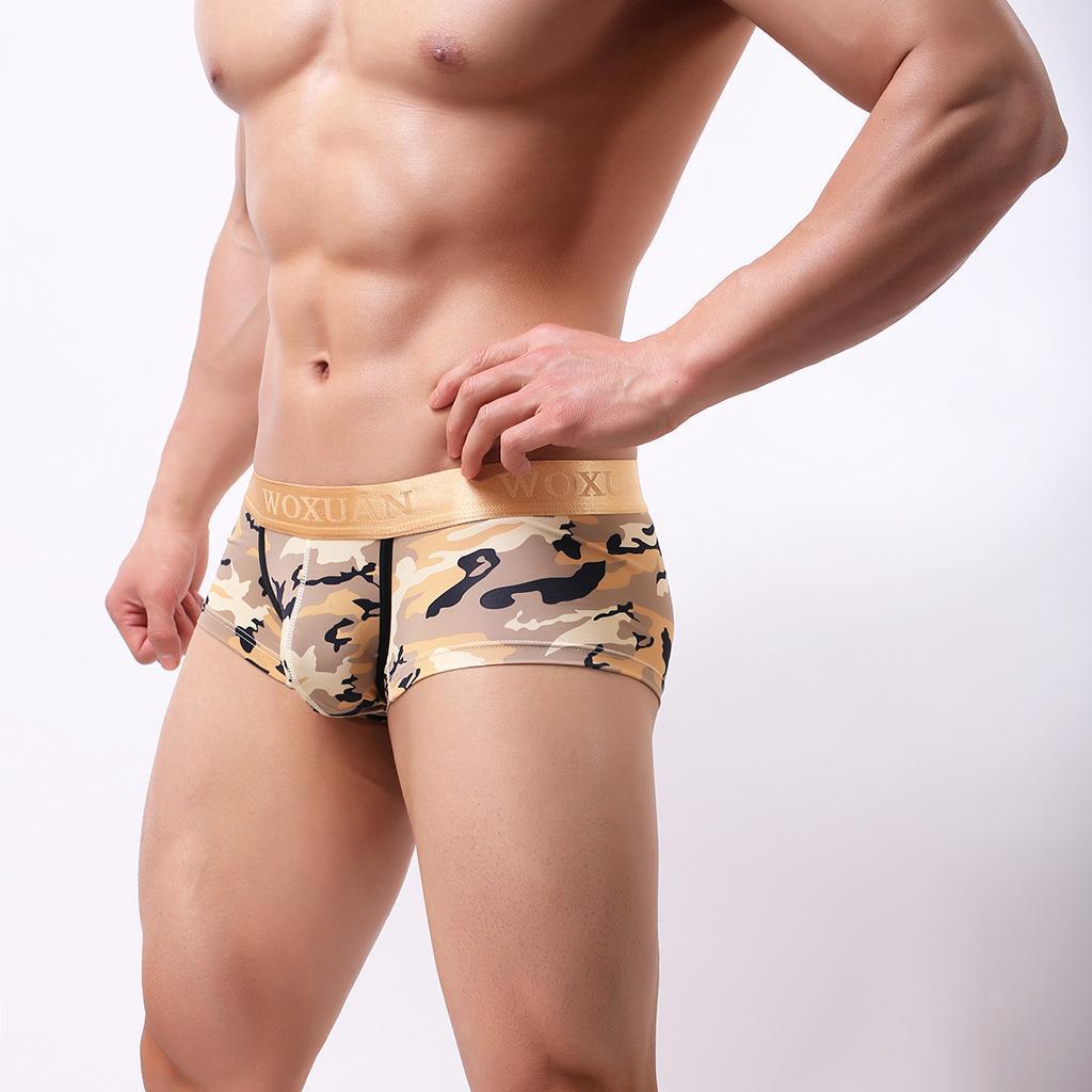 Men Camo Underwear Camouflage  Brief Swim Trunks Sport Shorts Bikini