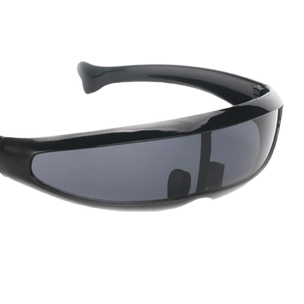 Space Robot Alien Party Cosplay Costume Futuristic Robot Single Lens Glasses