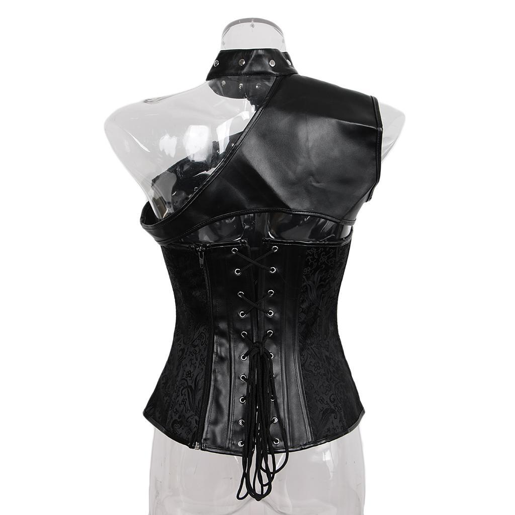 Donna Ladies Gothic  formazione Corsetto Bustier Top Steampunk disossato